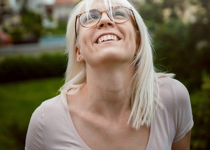 woman-looking-upward-and-happy